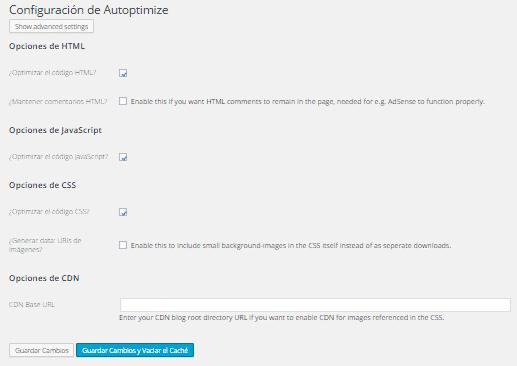 plugin Autoptimize