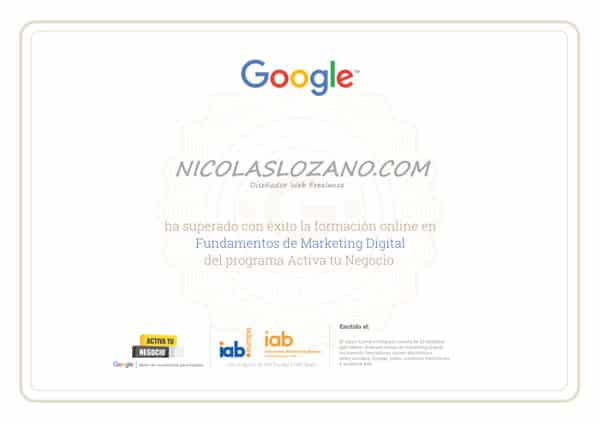 certificado google activate