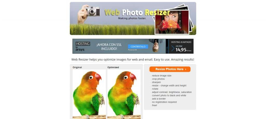 optimizar imagenes para wordpress