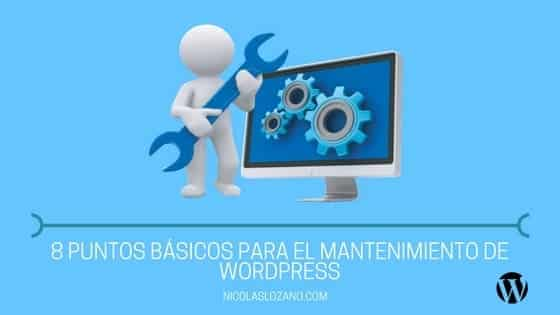 mantenimiento de wordpress