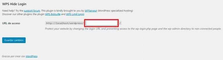 cambiar url de administrador de wordpress