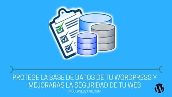 base de datos de wordpress